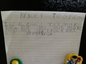 Joey note
