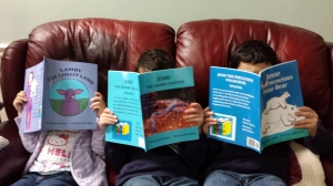 Grandkids w books