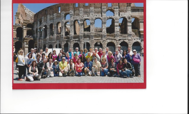 group at colliseum