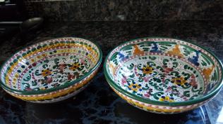 Painted bowls Taormina