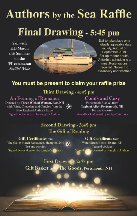Raffle Schedule Authors by the Sea 2018
