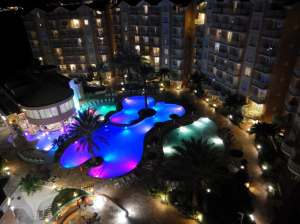 Aruba night view of pool 2018