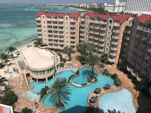 Pool and island view of Aruba 2018